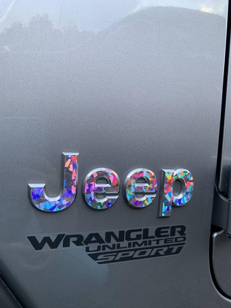 Holographic Crystal Jeep Wrangler Jl 2018 2019 2020 Gem Glitter