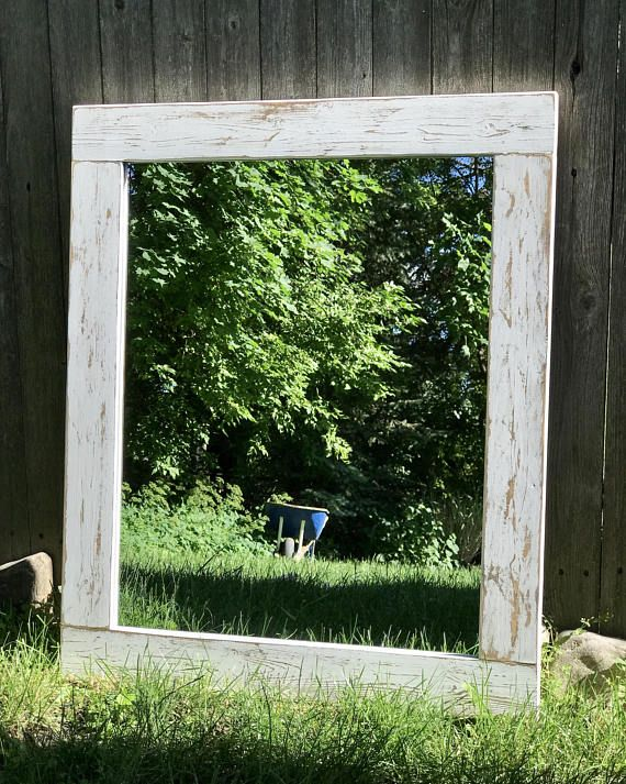 Mirror whitewash wood wood frame mirror white wood mirror - White wood framed bathroom mirrors ...