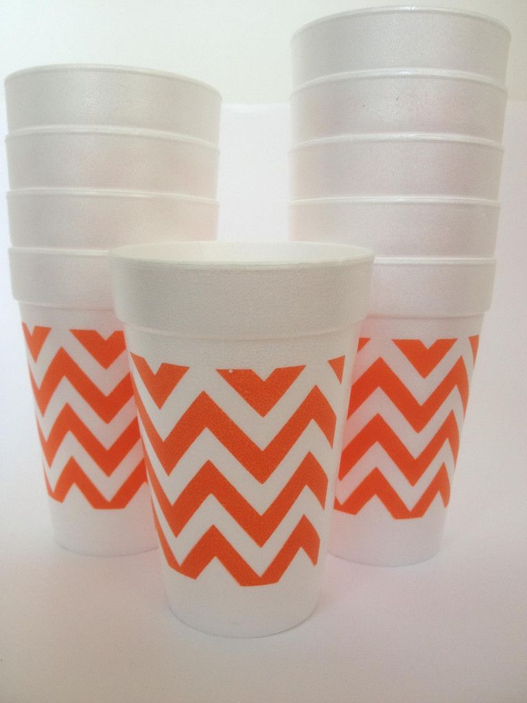 Orange chevron Halloween cups | halloween | Pinterest | American ...