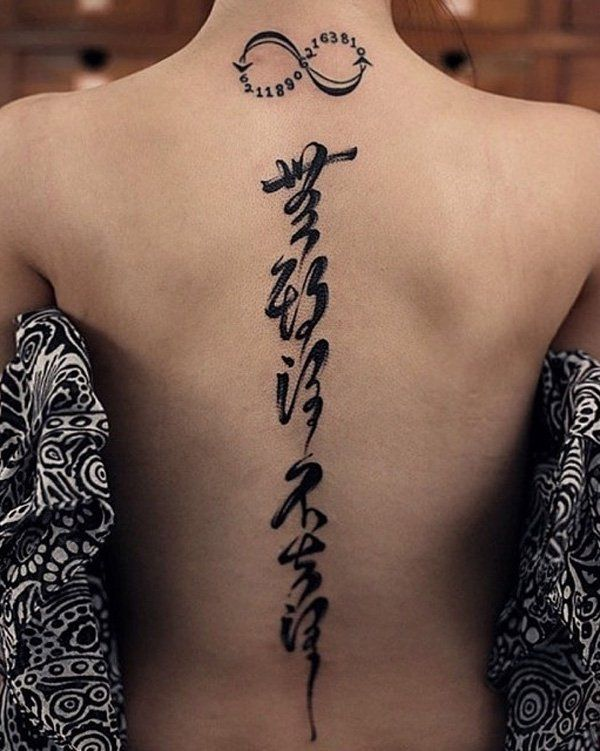 5265dd4a7327d An infinity sign with numbers plus Japanese characters equals a cryptic  looking tattoo. Who knows what you might be hiding in those tattoos?