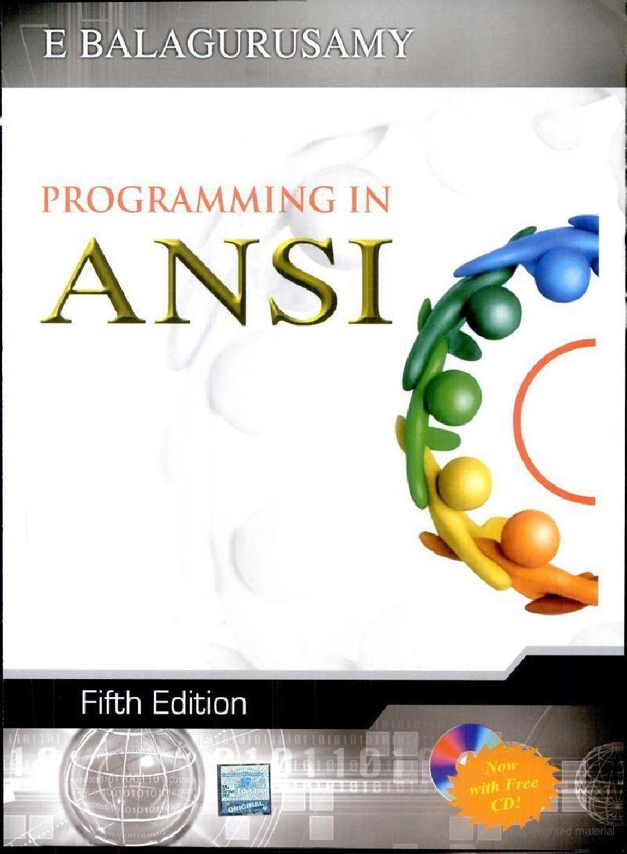 By c language balaguruswamy programming free download of ebook