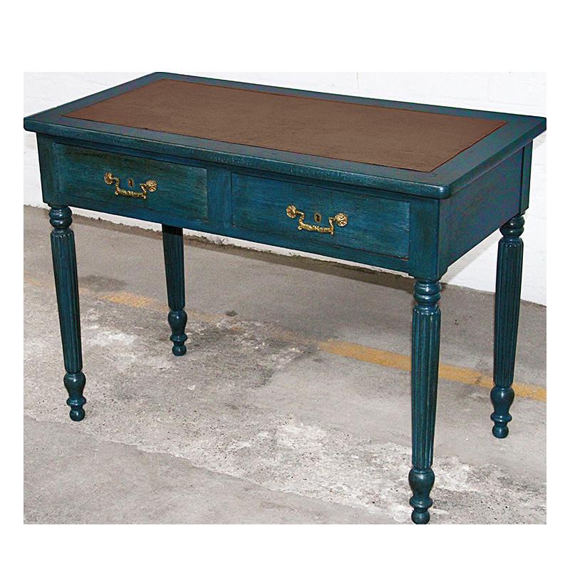 Sortie datelier charmant bureau Louis Philippe peint et patin