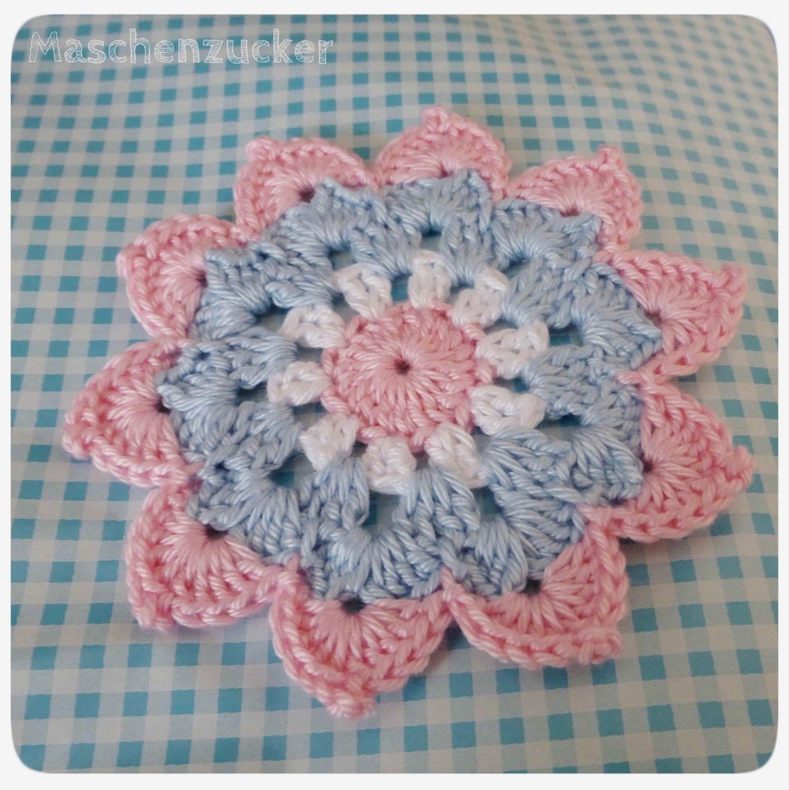 Sternblume oder Flower-Power-Untersetzer | Crochet | Pinterest ...