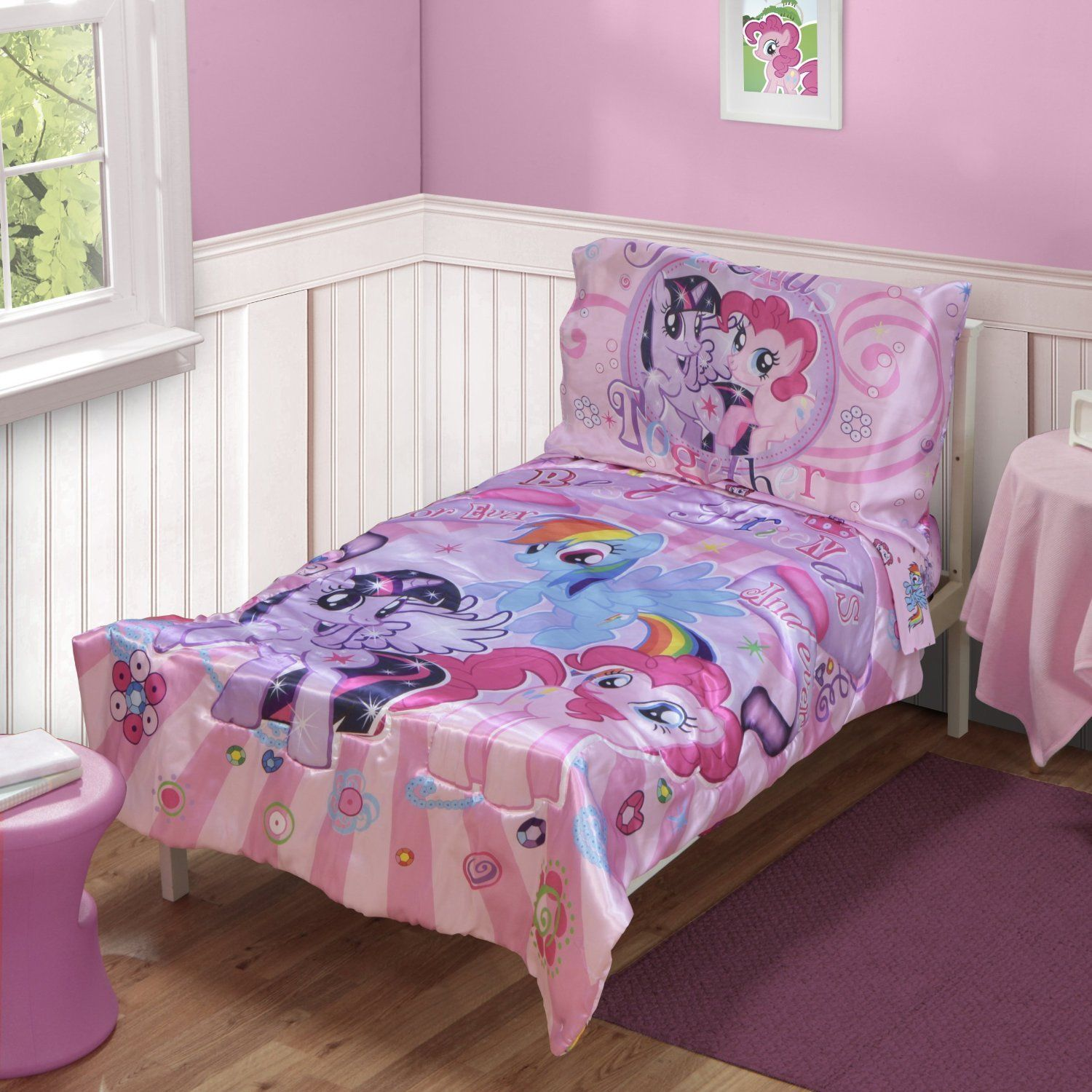 floral girl woodland il pink girls fullxfull bed cover toddler sets duvet kids deer cases set products bedding pillow