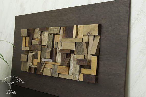 Escultura de pared decoración de pared mosaico madera Decoration