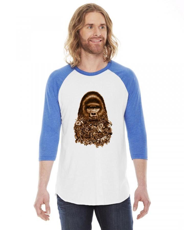 gorilla 3/4 Sleeve Shirt