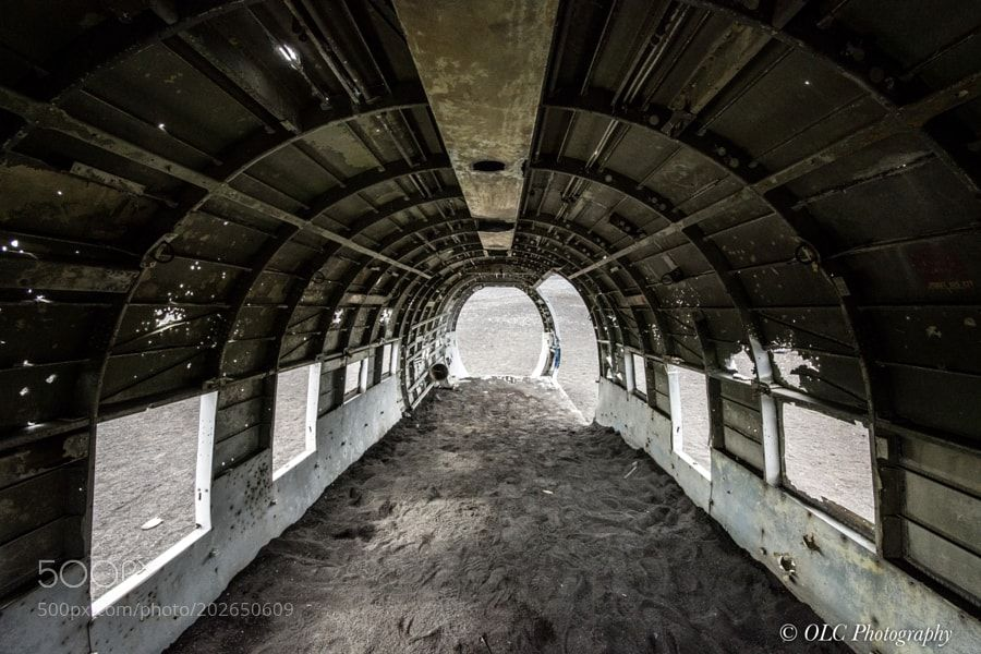 Popular on 500px : Interior of DC3 Plane Wreck in Iceland by olafchristen1