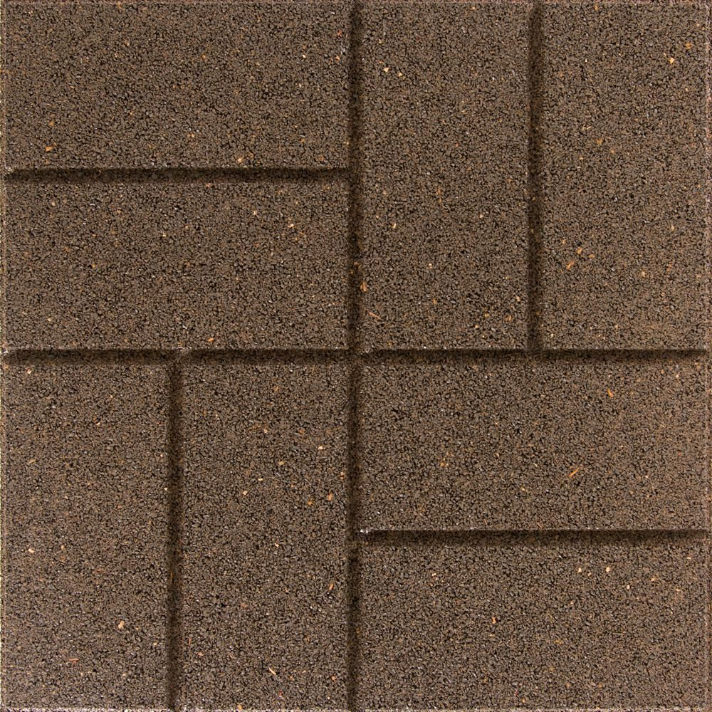 Envirotile Reversible 16 In X 16 In X 0 75 In Earth Brick Face Flat Profile Rubber Paver Mt5001607cm The Home Depot Outdoor Rubber Flooring Brick Face Rubber Floor Tiles Outdoor