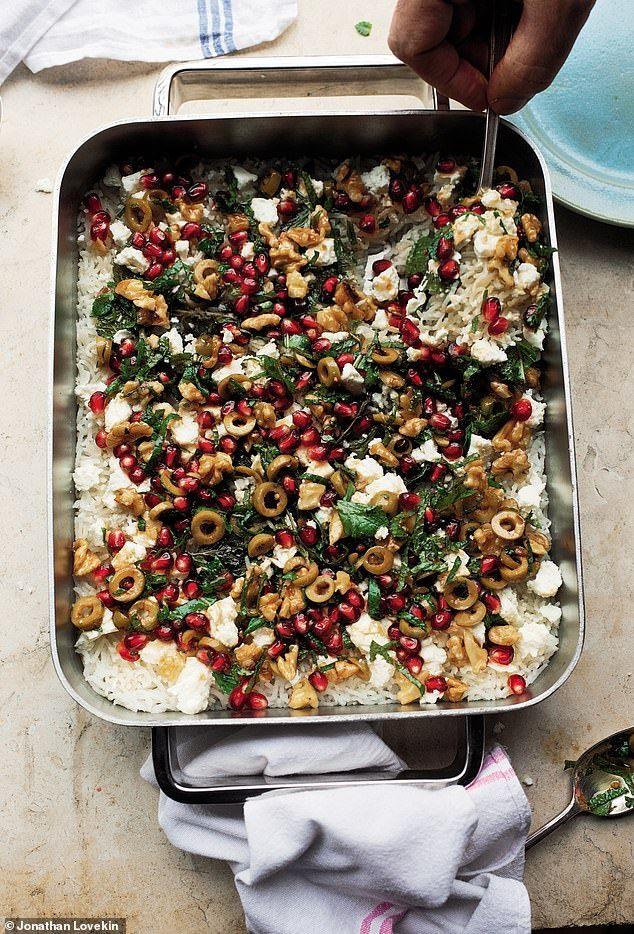 Ottolenghi's Simple:Baked mint rice with pomegran