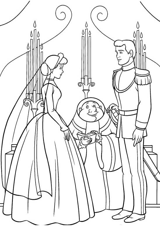 The Prince Married Cinderella Coloring Pages Cinderella Coloring