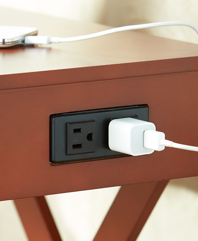 End Table With Outlet End Tables Table Home Decor