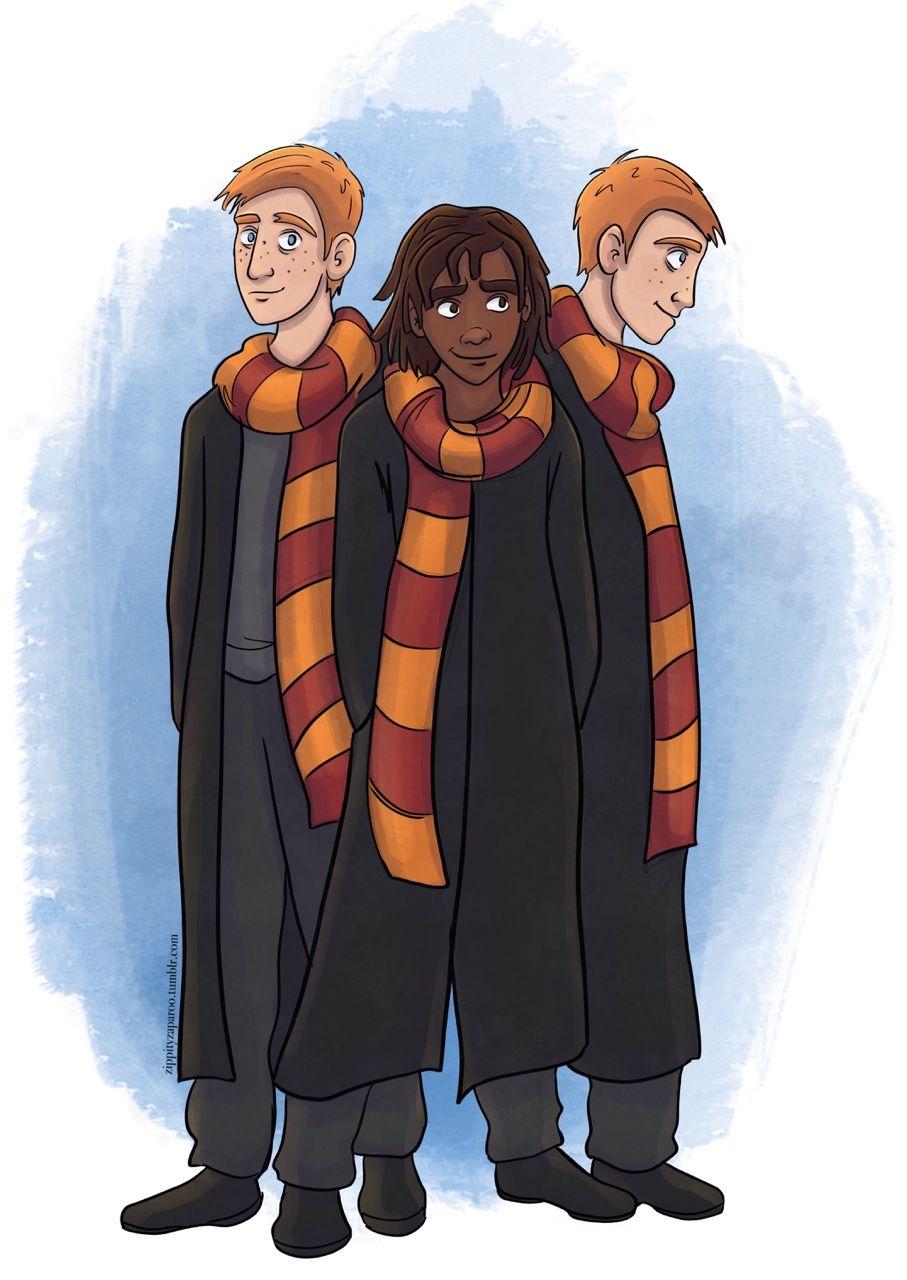 Day 28 Fred George Weasley And Lee Jordan S Hpeveryday Harry Potter Artwork Lee Jordan Harry Potter Harry Potter Sketch