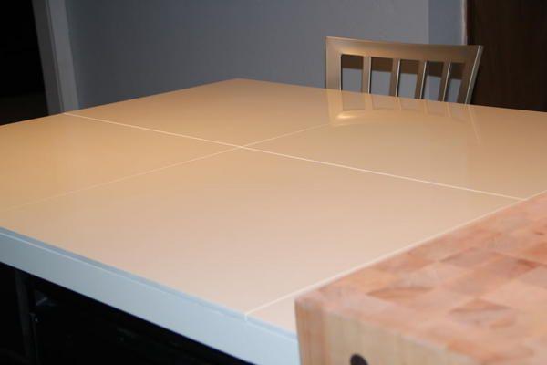 large format porcelain tile countertop