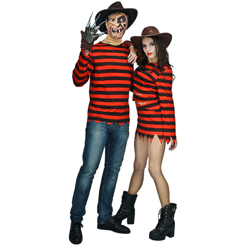 freddy killer costumes with claw halloween costume women dress man clothing couple sets for party cosplay