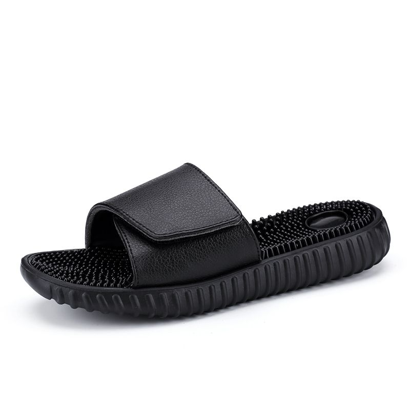 bce367825 New 2018 Summer Slippers Men Casual Sandals Leisure Soft Slides Massage  Beach Sandals Sandalias Hombre Men s Shoes Flip Flops-in Slippers from  Shoes on ...