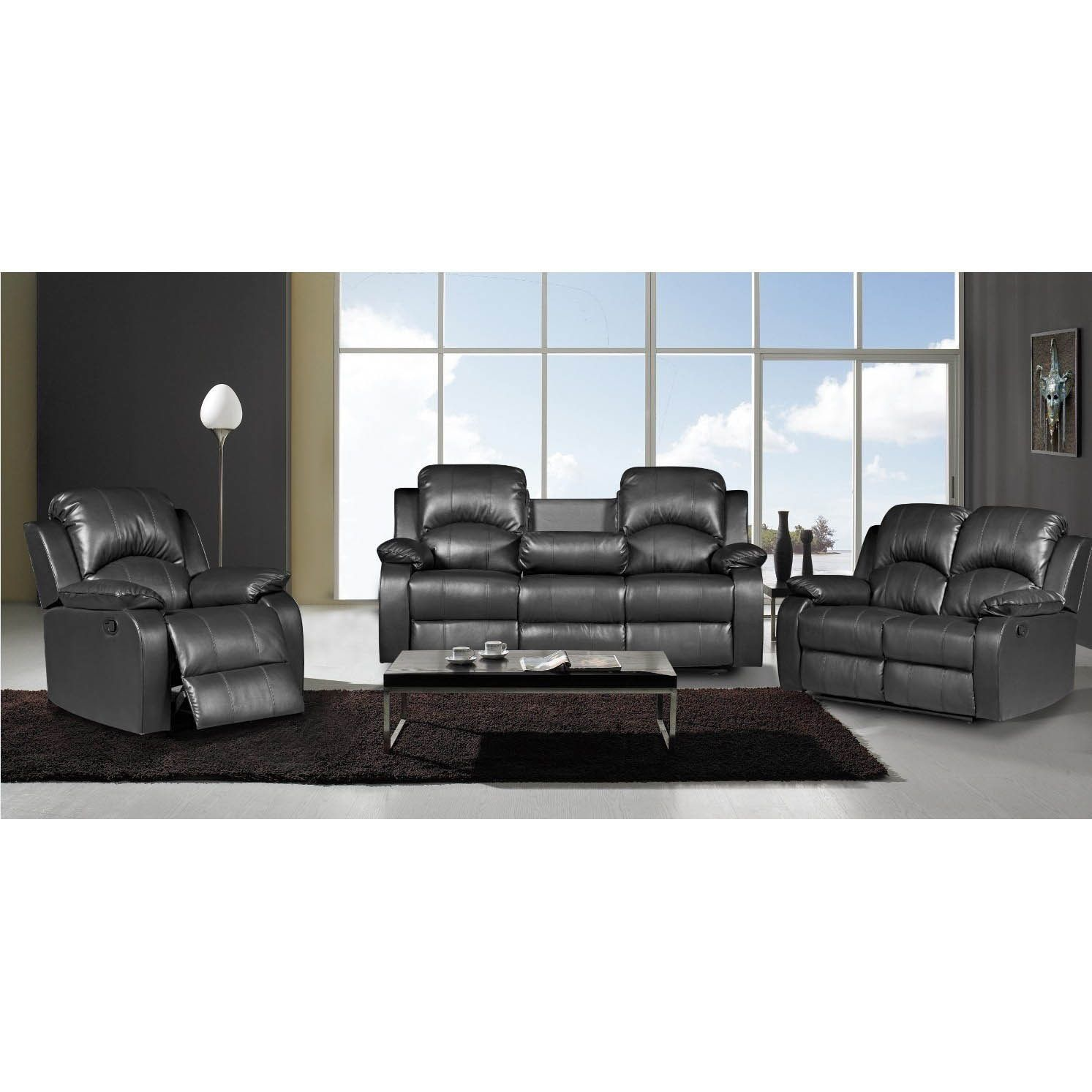 Lane Home Furnishings Leather Sofa And Loveseat From The Bowden Collection Fabric Corner Set Designs Us Pride Furniture Nadia 3 Piece Bonded Recliner Black