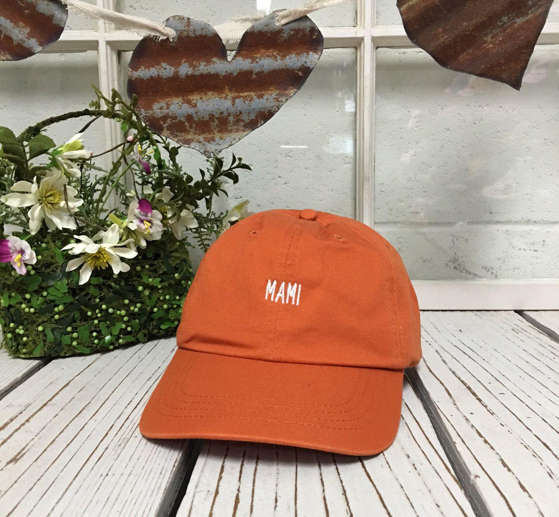 MAMI Baseball Hat Low Profile Embroidered BURNT ORANGE Baseball… e3586092daf6
