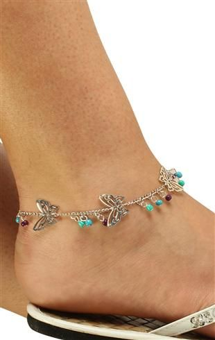 Plus size butterfly ankle bracelet jewelry pinterest for Plus size jewelry bracelets