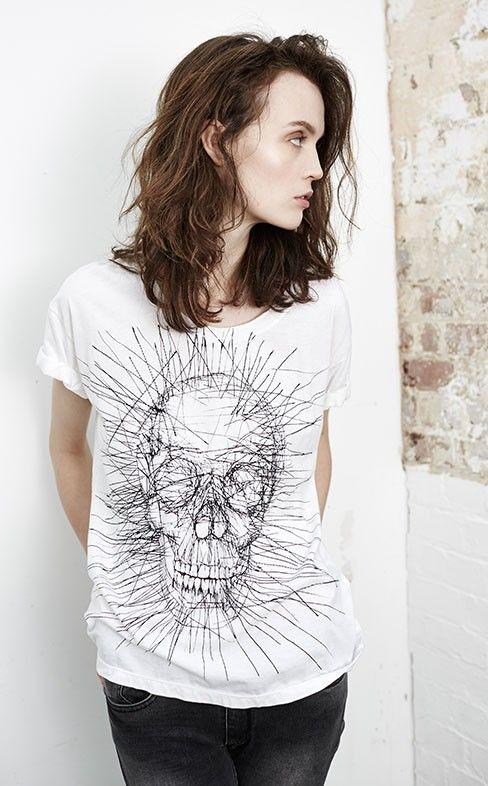 dd9934e0d37e Shop Religion Womens_ SCRATCH TEE £40   Skull apparel   Religion ...
