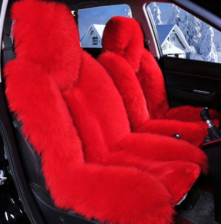 1 Piece Bear Fur Lit Fluffy Pink Seat Cover Not 2 Pieces Pink Seat Covers Leather Car Seat Covers Seat Covers