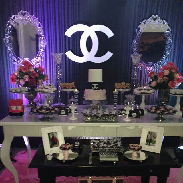 Coco Chanel Party Ideas In 2019 Chanel Party Chanel