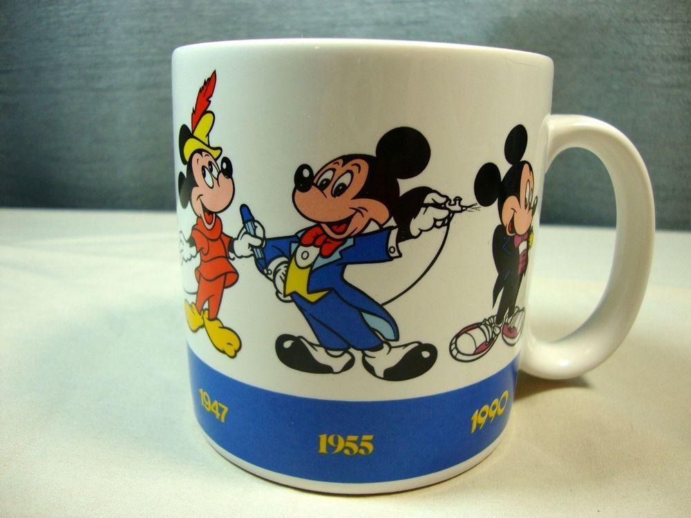 Applause Disney Mickey Draws Mickey Cup Mug Years 1928-1990 #33417 #Applause