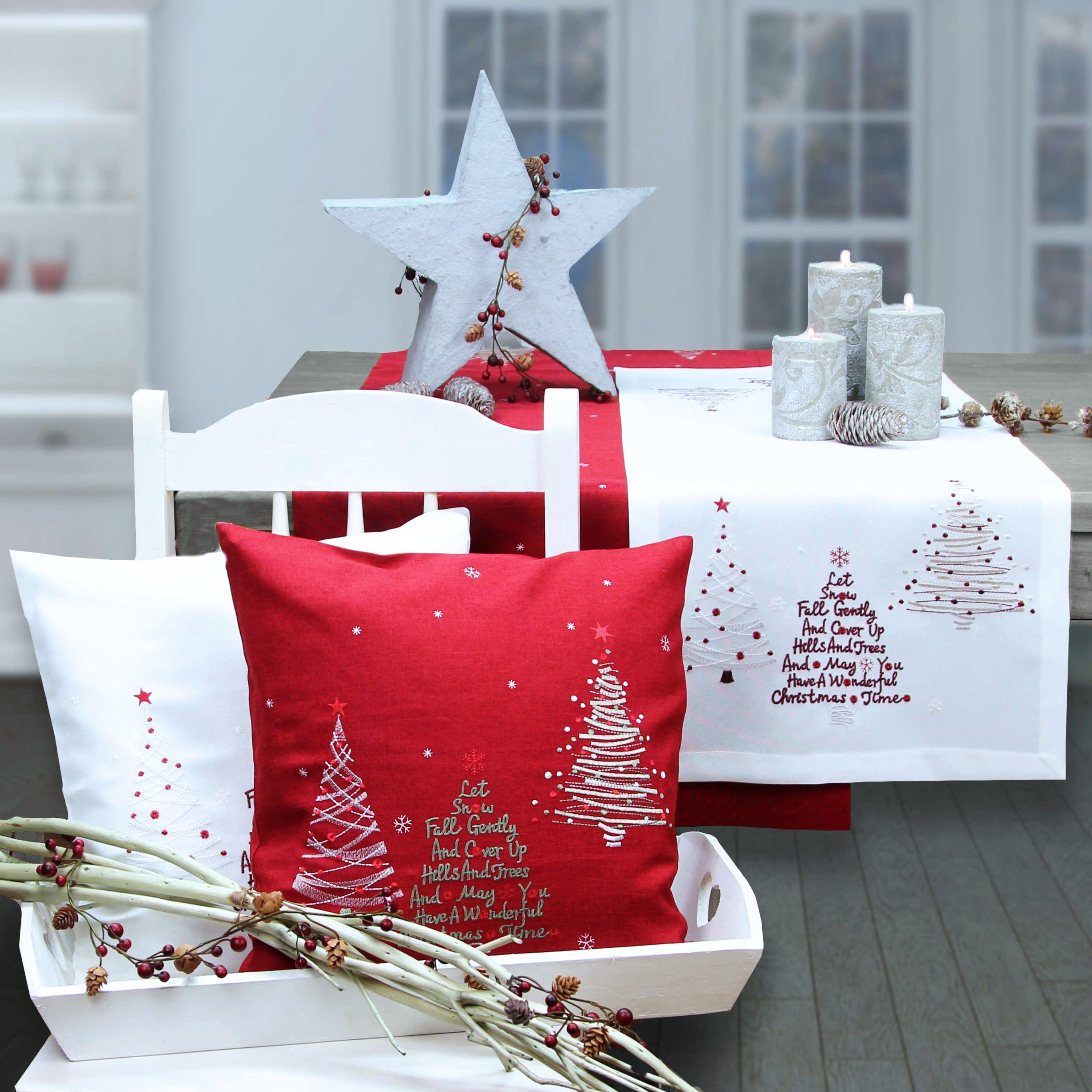 Weihnachtliche Tischläufer und Weihnachtskissen. Online bestellen ...