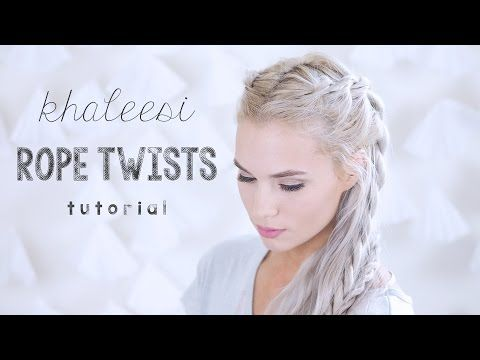 Khaleesi Rope Twists Tutorial | Kirsten Zellers - YouTube