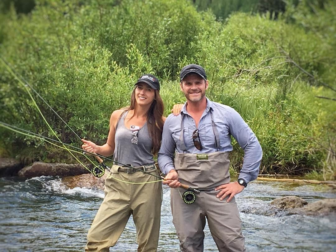 Trying Our Hand At Fly Fishing In Telluride We Both Caught A Trout Catch And Release Flyfishing Fishing Waders Tellu Fishing Waders Waders Skinny Water