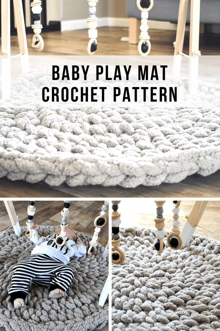 How To Make A Modern Crochet Baby Play Mat In 1 Hour  Home Decor Crochet Patterns