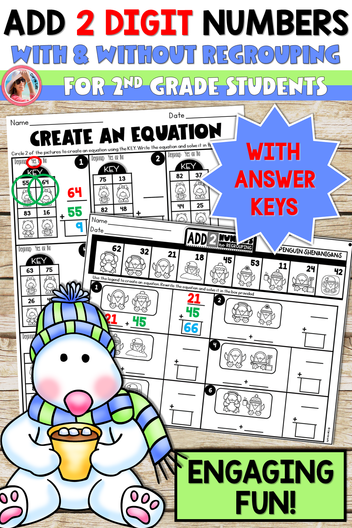 Winter 2 Digit Addition With And Without Regrouping