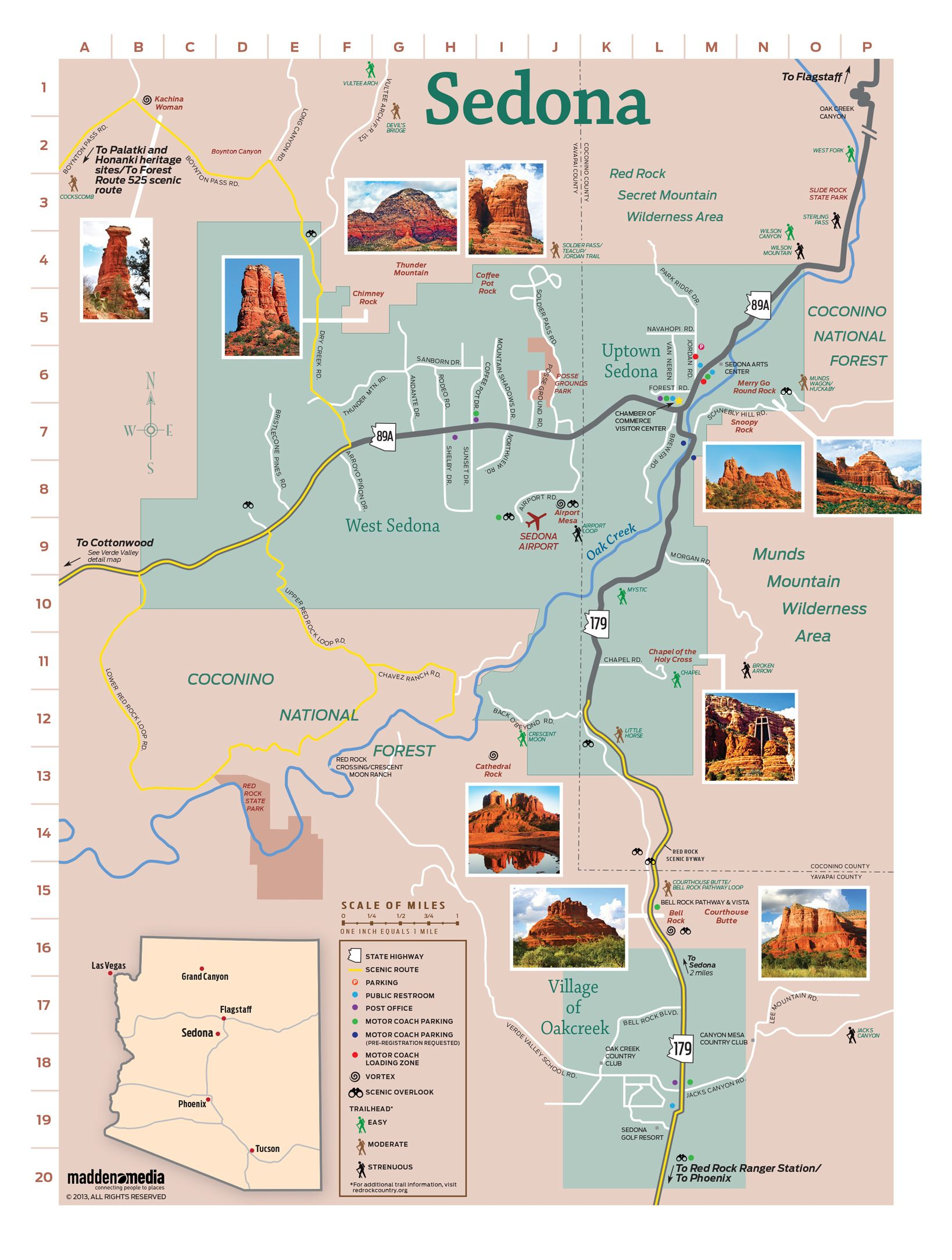 Map Of Sedona Az Sedona Map Visit Sedona Sedona Az