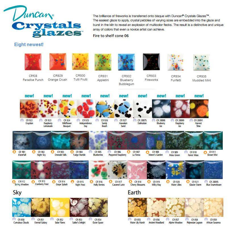 Seattle Pottery Supplies J Duncan Crystals Glazes Artist Resources