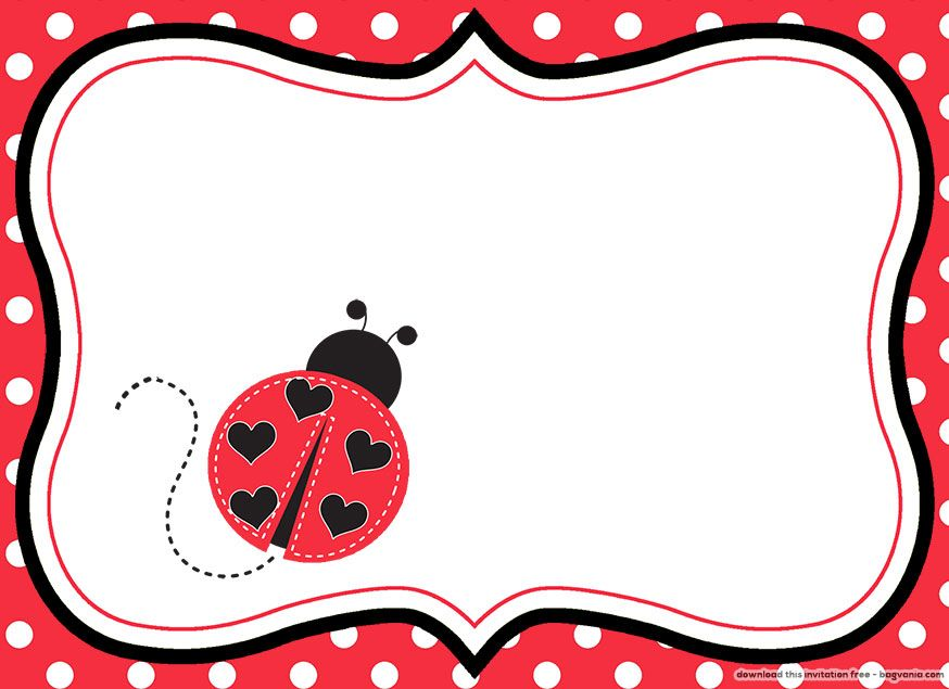 FREE Printable Ladybug Birthday Invitations For Lynda