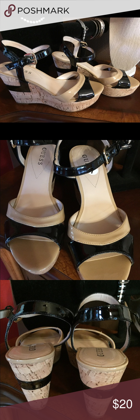 Guess wedge sandals. Like new! Gorgeous sandal. GUESS Shoes Sandals