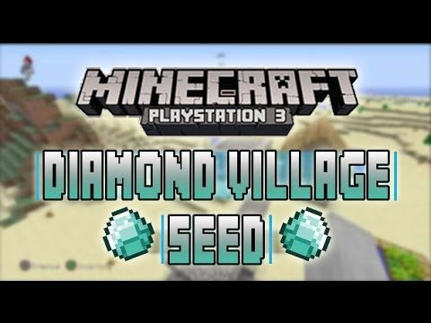 Minecraft Ps3 Edition Lots Of Diamonds Village Seed Mc Seed Spawn Showcase Minecraft Youtube Ps3