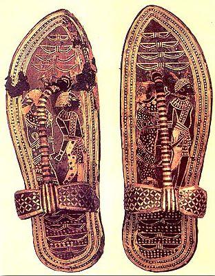 Sandálias com folha de ouro (Tutancâmon)