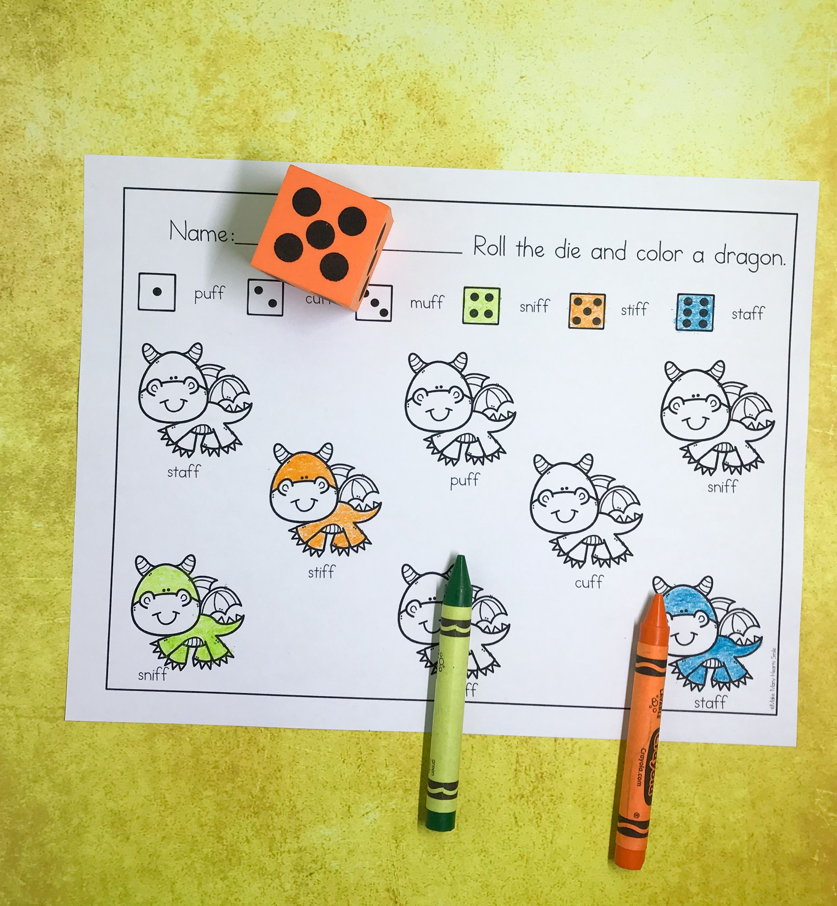 Ff Roll And Color Fun Worksheets Are Included In The Ff