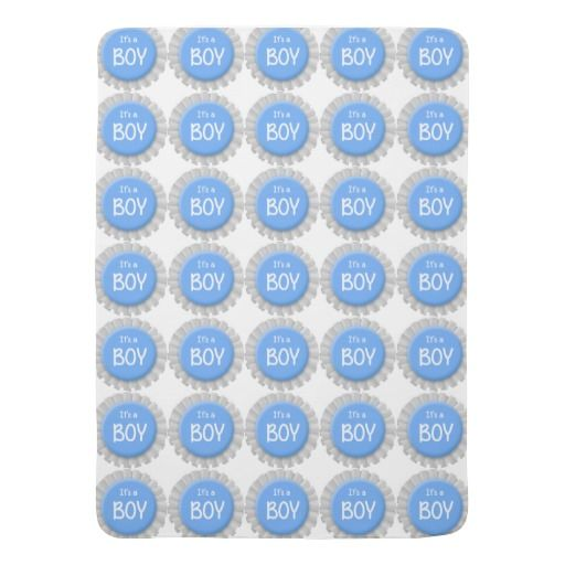 It's a Boy White and Blue Button Baby Blanket ........ http://www.zazzle.com/its_a_boy_white_and_blue_button-256697779406034638?rf=238631258595245556