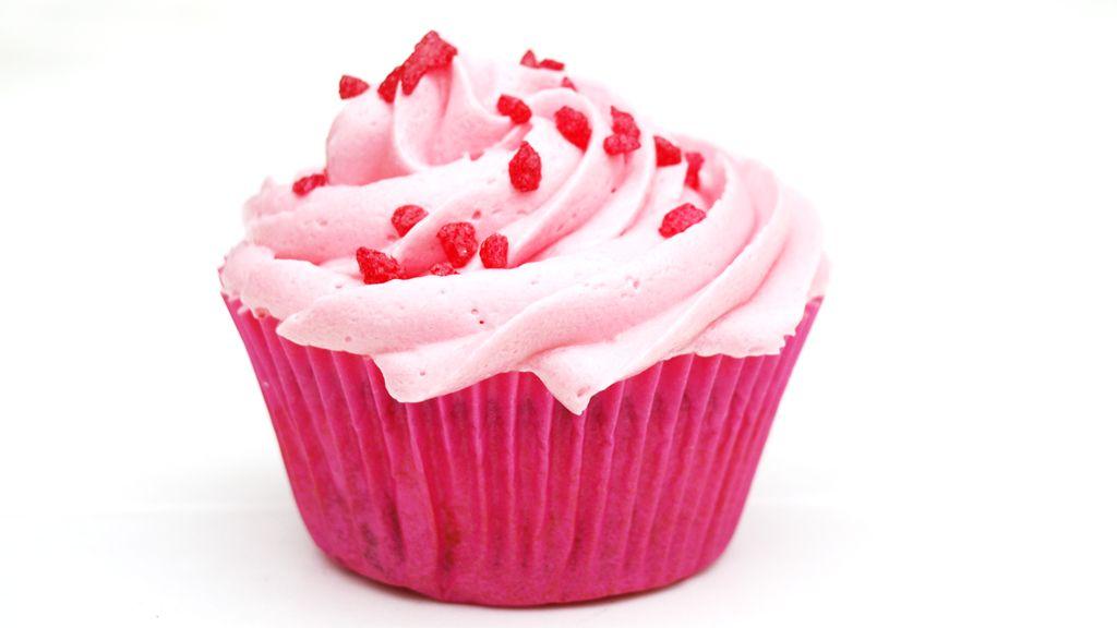 Pink strawberry cupcake | Toetjes en taarten | Pinterest