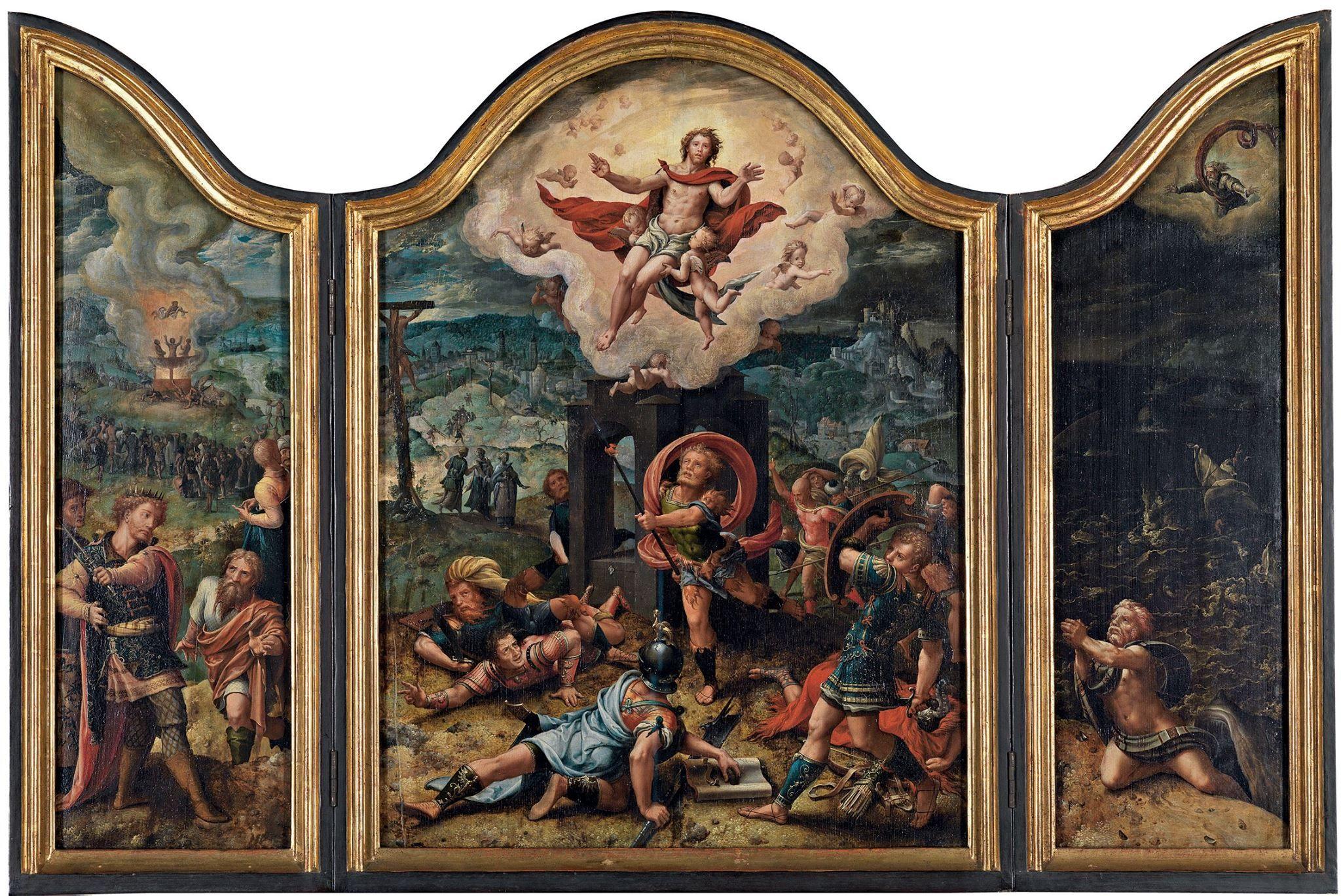 Pieter Coecke van Aelst (Netherlandish, 1502–1550) | Resurrection | ca. 1530 | Staatliche Kunsthalle Karlsruhe