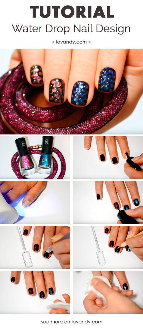 How To Make Raindrop Nails Easy Nails Pinterest Art Tutorials