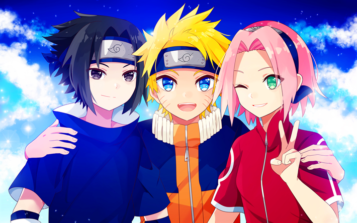The Naruto sasuke and sakura