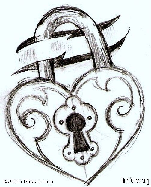 heart key lock love drawing google search heart locket pinterest simple drawings drawing ideas and drawings - Drawing Design Ideas