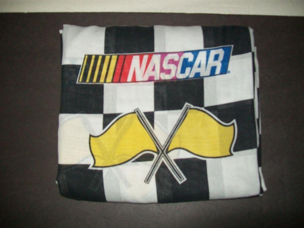 NASCAR Twin Sheet Vintage Flat Sheet Checkered Flag Logo