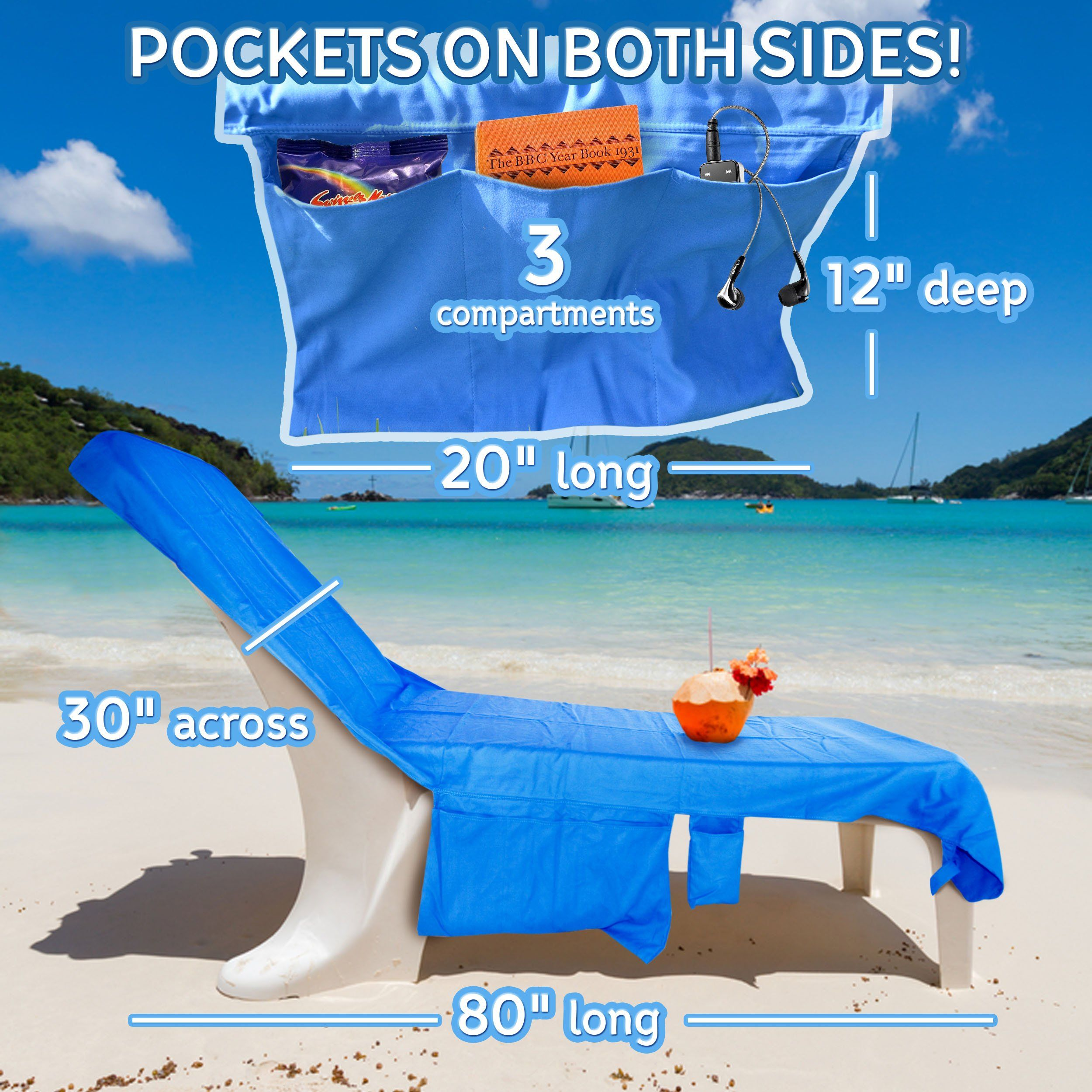 Perfect Beach Chairs The Chair Fic Amazon Com Lazy Daze And Sunny Days Or Pool Lounge Towel Cover With Convenient Storage Pockets
