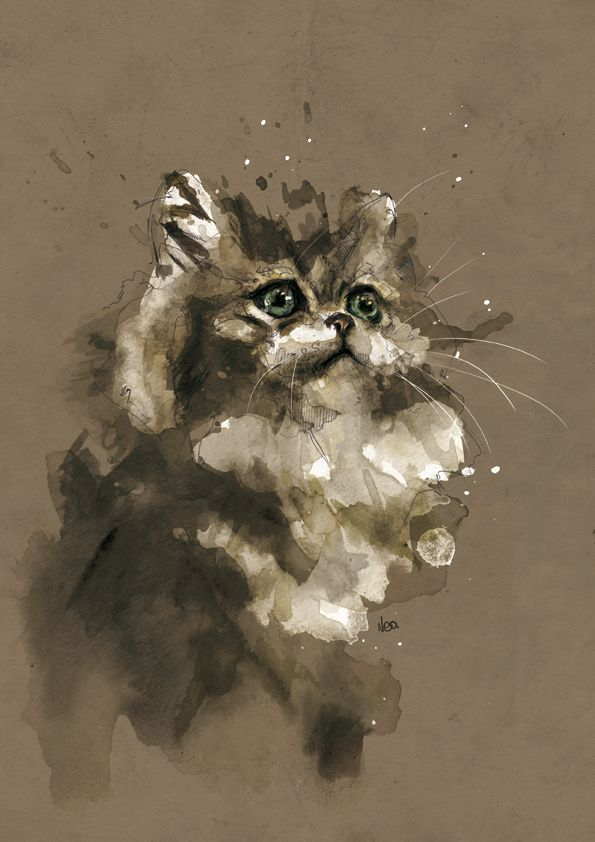 У меня есть одно увлечение - я рисую акварелью. В основном животных. В основном кошек. Это увлечение появилось отчасти после обнаружения в сети работ французского художника и иллюстратора Nicolle Floriane. Конечно, сразу же я поняла, что кошки не основной сюжет его деятельности. Но для меня животные в его исполнении остаются неисчерпаемым источником вдохновения.