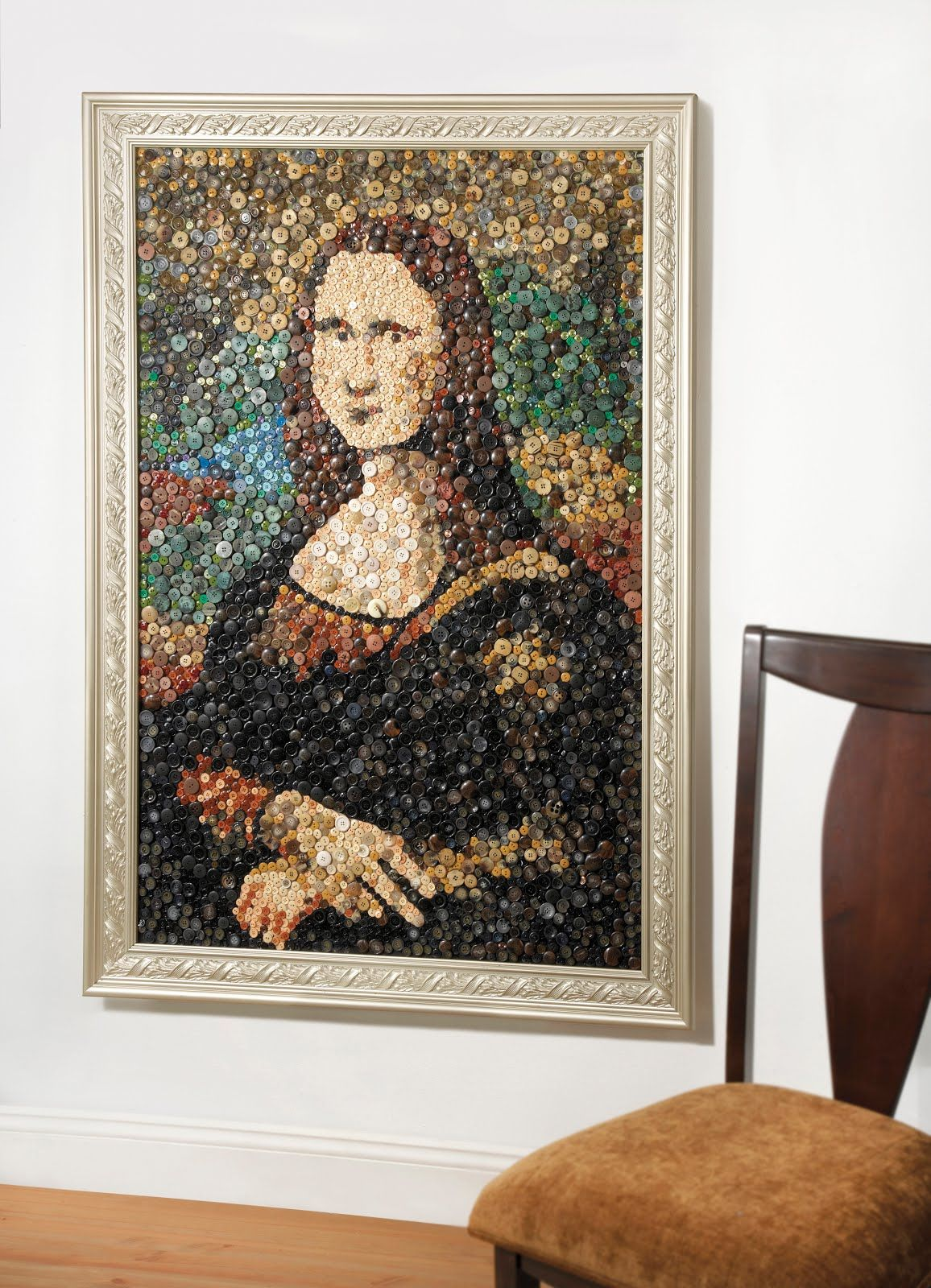 Nov. 16 is National Button Day! Thousands of buttons were used to recreate the Mona Lisa.