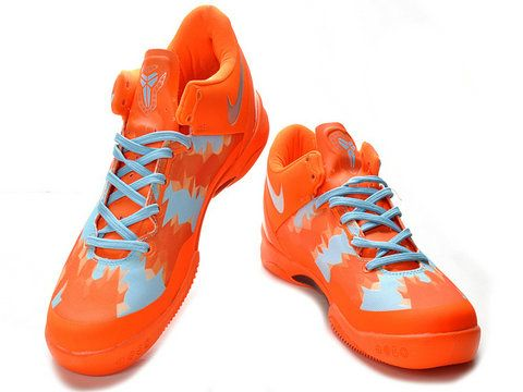 premium selection 81517 850c4 Nike Zoom Kobe 8 VIII Orange Silver,Style code 555035-800,The shoe was  covered by orange hue with metallic silver Nike swoosh and light blue 3D  geometrical ...