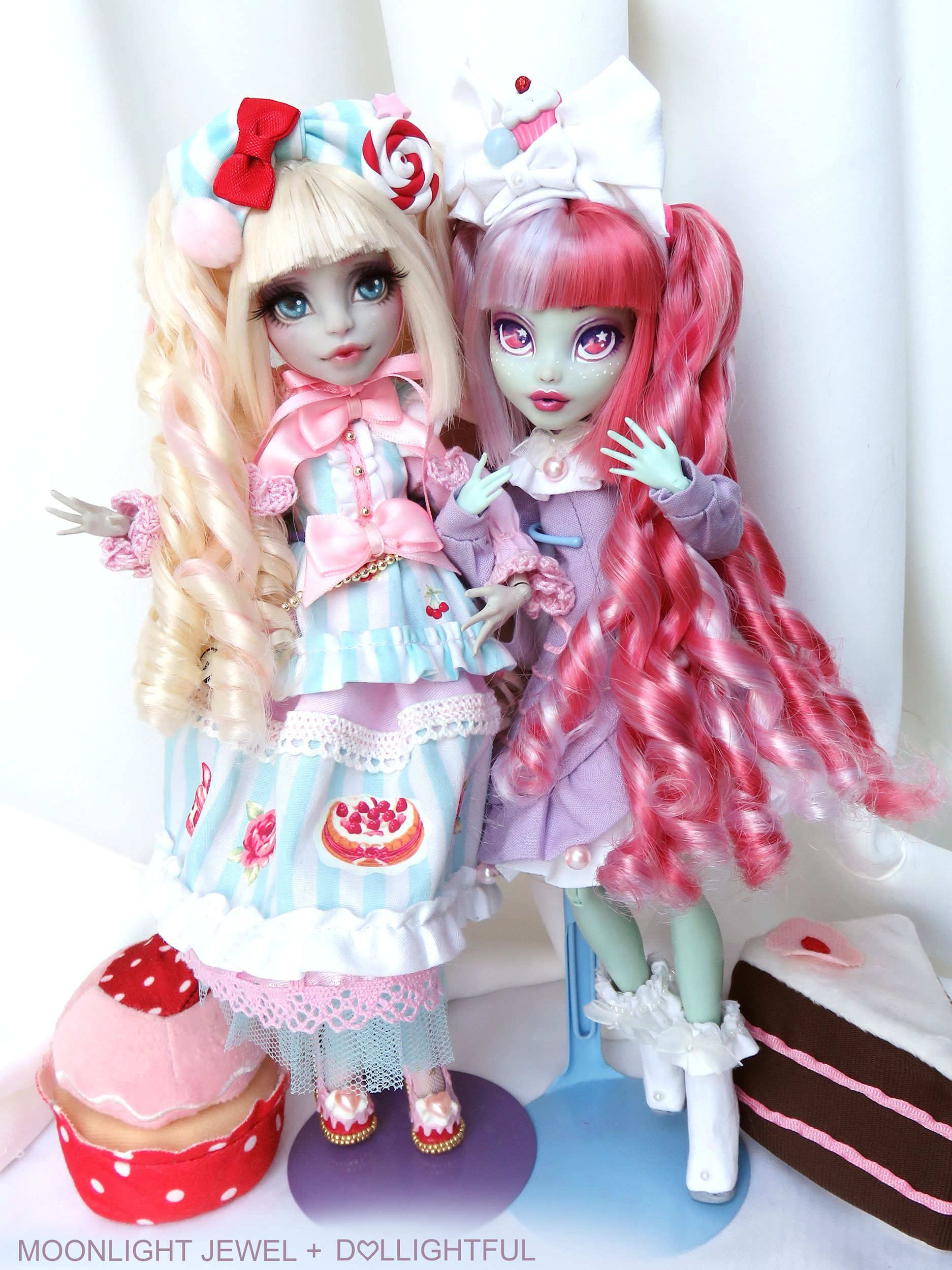 Macaroon, Sweet Lolita Custom OOAK Frankie Stein Doll by Dollightful ...